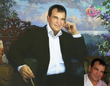 Портрет на холсте стилизованный под живопись, классика жанра…