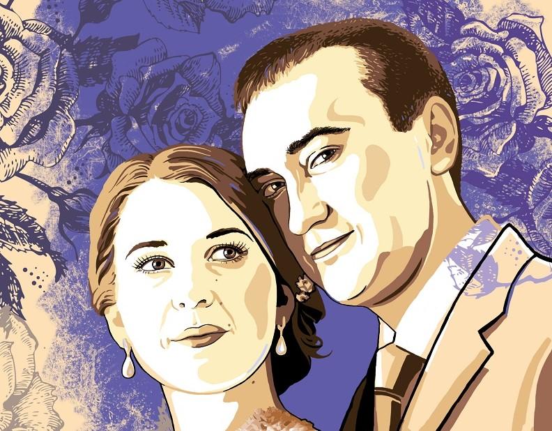 заказать портрет на годовщину свадьбы