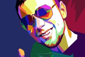 Дерзкий и модный портрет по фото в стиле WPAP для него…