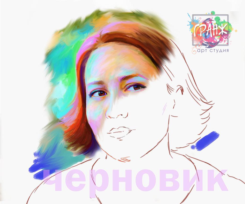 набросок креативного портрета art brush в Санкт-Петербурге