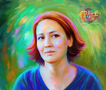 Креативный арт портрет для руководителя женщины…