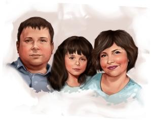 Семейный портрет по фото