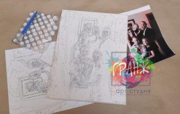 Картина по номерам по фото, портреты на холсте и дереве в Санкт-Петербурге